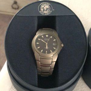 Citizen Eco-Drive Unisex Titanium Watch